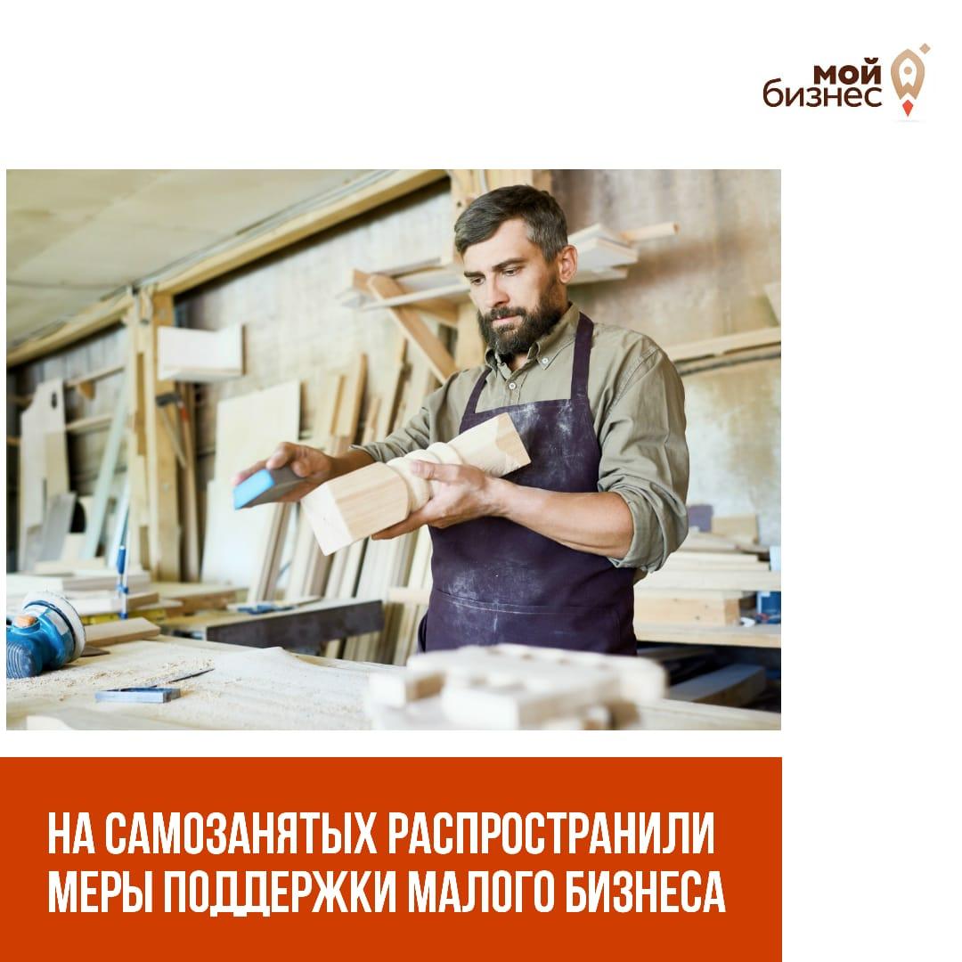 На самозанятых распространили меры поддержки малого бизнеса