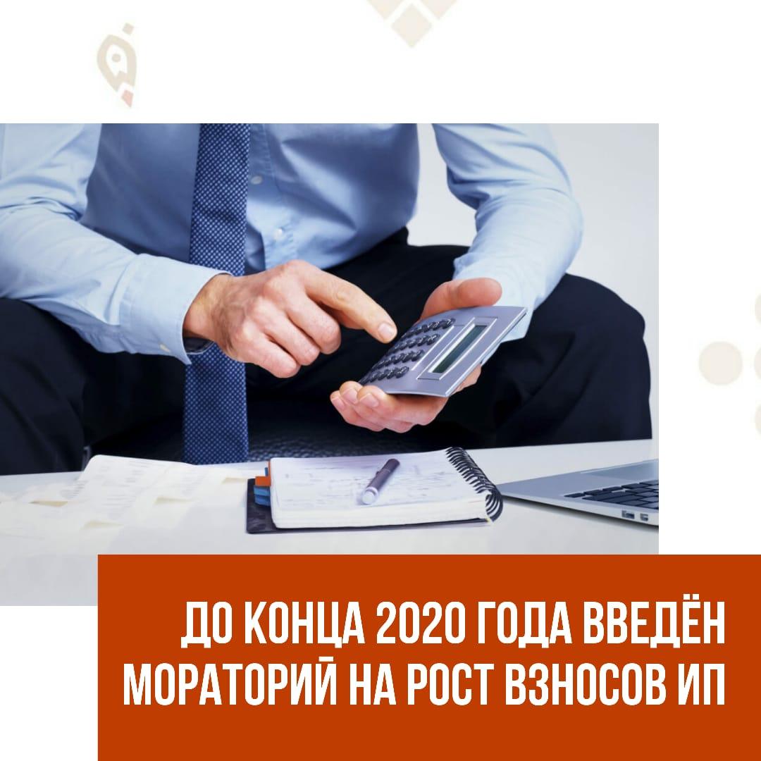 До конца 2020 года введён мораторий на рост взносов ИП
